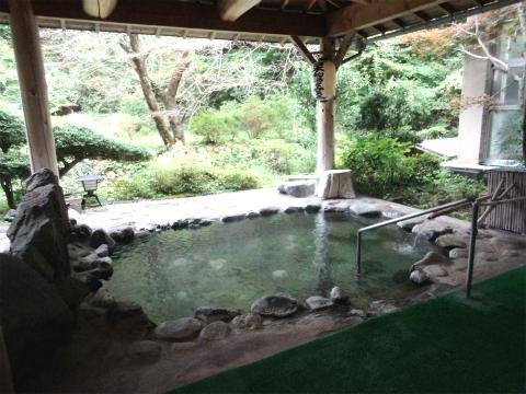 川中温泉 かど半旅館 混浴露天風呂 画像