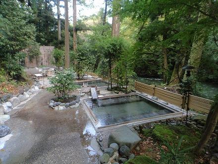 山中温泉 花つばきの混浴露天風呂 湯畑