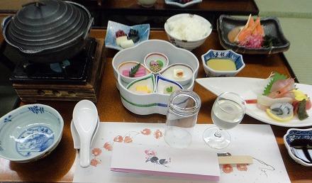 山中温泉「花つばき」のお食事(夕食)