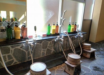 岩間温泉 山崎旅館の内湯にある洗い場