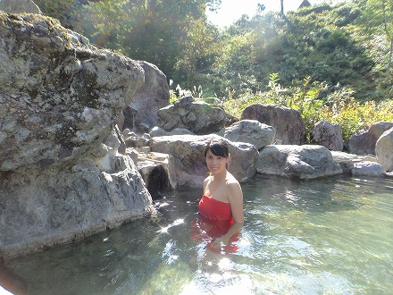 岩間温泉 山崎旅館の温泉は飲泉もできます